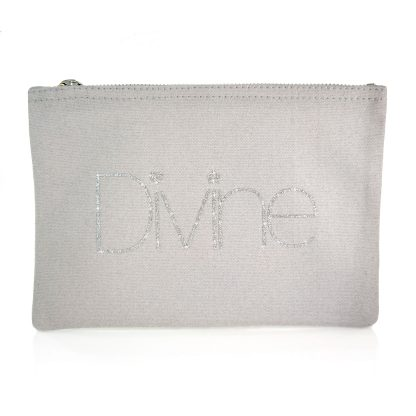 Grey silver glitter bag divine