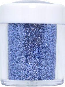 baby blue pastel nail art glitter