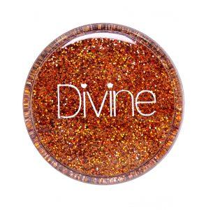 ginger orange holo nail glitter