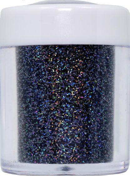 black holo nail art glitter