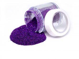 deep purple holo nail glitter