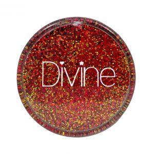 red orange holo nail glitter