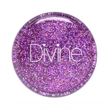 best holo nail art glitter lilac