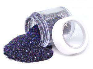 holo nail glitter night sky