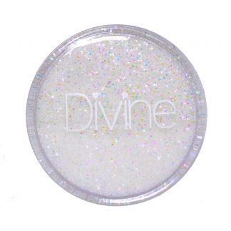 white iridescent opal fine nail glitter