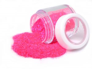 neon pink purple nail glitter