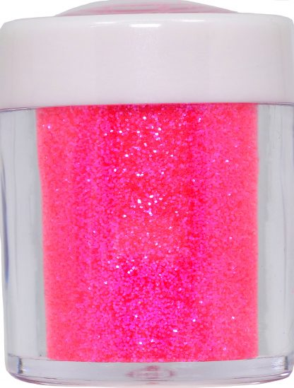 neon pink fine nail glitter