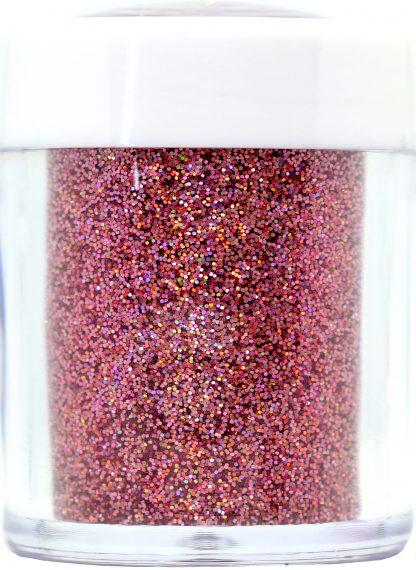 holo dusky pink nail art glitter