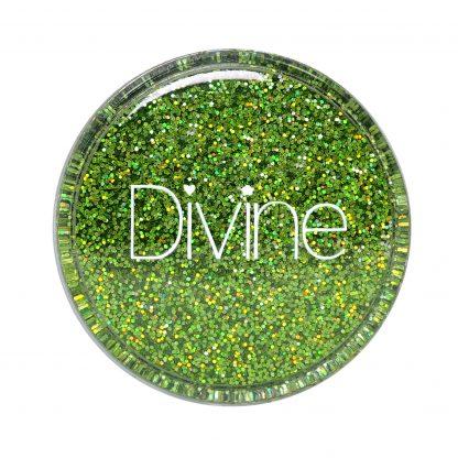 Lime green holo nail glitter