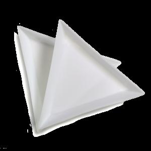 triangle glitter catcher tray