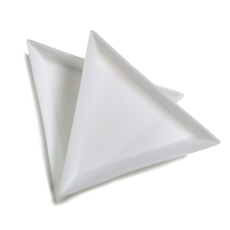 triangle glitter catcher tray